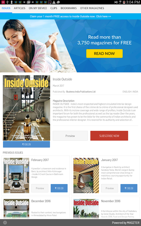Inside Outside Android Apps On Google Play - Outside magazines travel awards 2015
