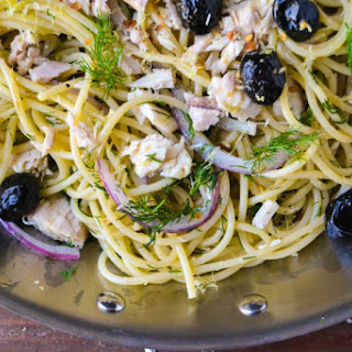 Spaghetti with Tuna, Lemon and Dill