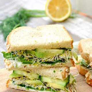 Green Goddess Vegetable Sandwich.