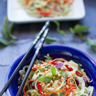 Asian Zucchini Cucumber Noodle Salad
