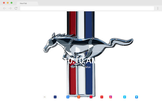 Mustang New Tab Page HD Popular Cars Theme
