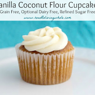 Vanilla Coconut Flour Cupcakes.