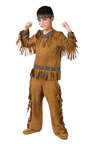Barndräkt, indian pojke 110/116 cl
