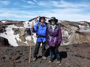 Photo: Walking along the crater rim