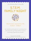 STEM Family Night - Poster item