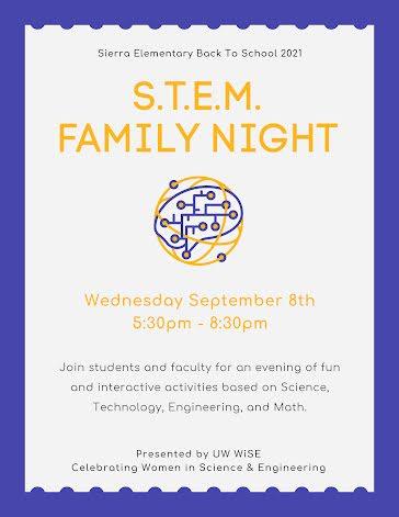 STEM Family Night - Flyer template