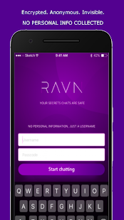 Ravn - The Invisible Chat App - náhled