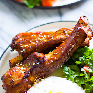 Baked Honey BBQ Baby Back Ribs.