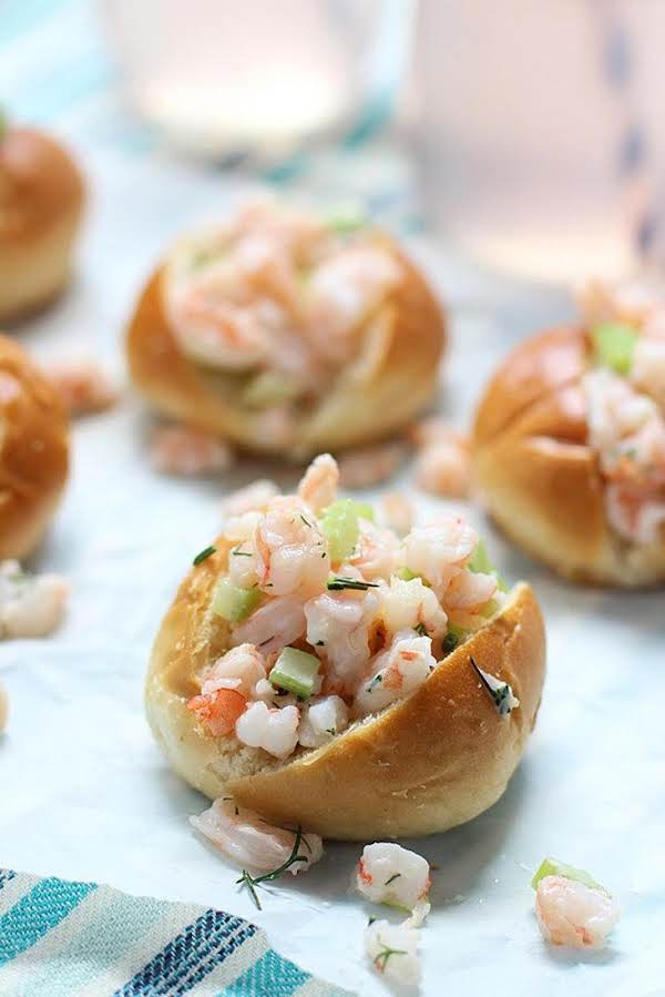 Baby Shrimp Rolls With Dill Recipe