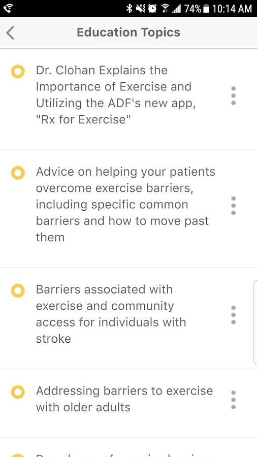 Rx for Exercise- screenshot