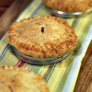 Mini Cherry Pies with Red Plum Jam.