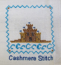 "Photo: Completed 25 June 2009. Sampler Book ""C"" (2006) by Erica Michaels stitched on Cream 32ct linen. The stitching was done in Needle Necessities silks. Stitch count: 53w x 60h."