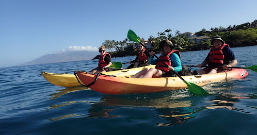 5.19.18 Kayak at Makena with Curtis