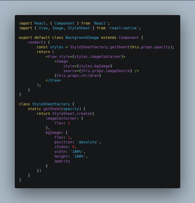 Custom Background Image Component
