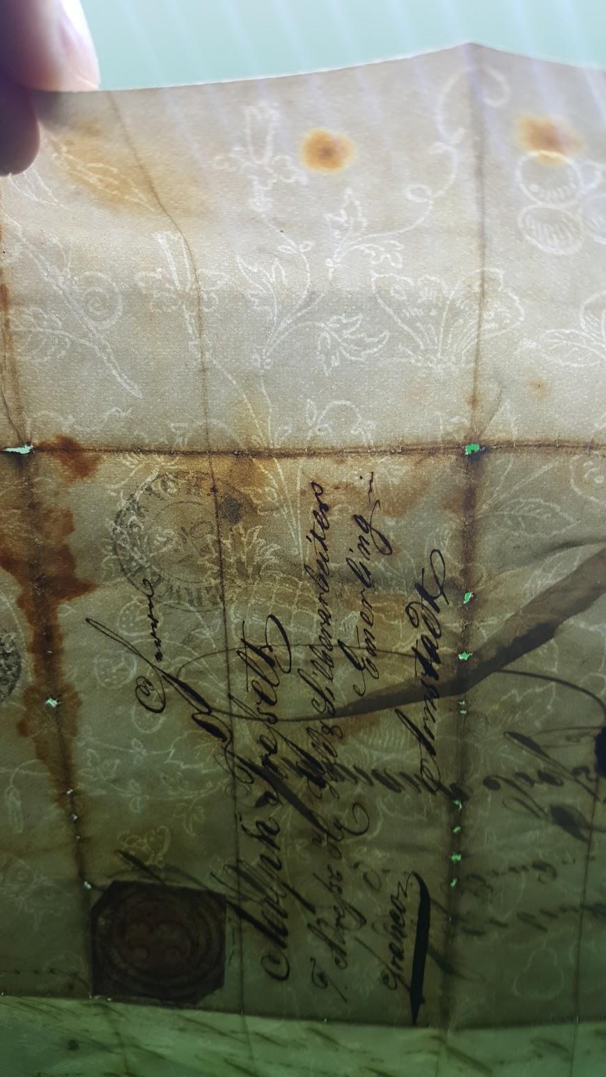 Brief von 1864, Thurn und Taxis, Wasserzeichen