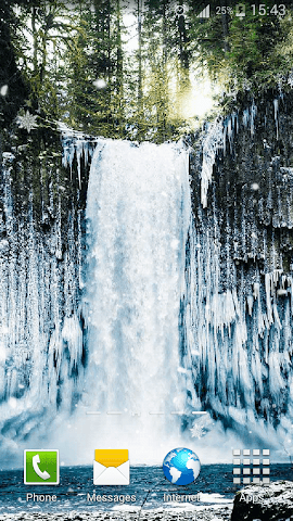 android Frozen Waterfall HD Wallpaper Screenshot 7