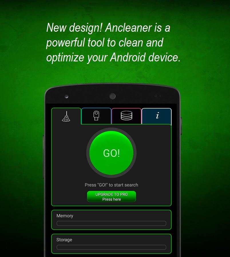 Ancleaner, Android cleaner- screenshot