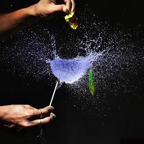 Water Splash by Kunal Karmakar - Abstract Water Drops & Splashes
