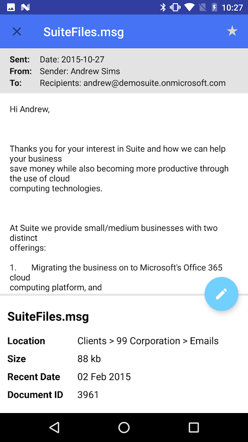 SuiteFiles for Android- screenshot