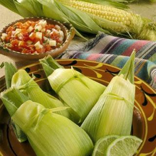 Steamed Mexican Corn Dumplings.