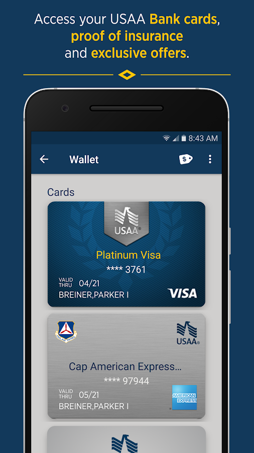 USAA Mobile- screenshot
