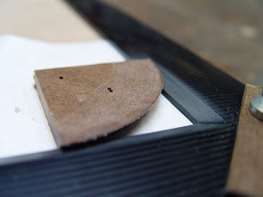 Photo: These corner pieces had a bevel that matched the bevel of the screen frame.