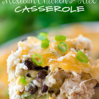 Easy Mexican Chicken and Rice Casserole.