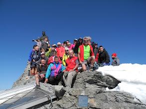 Photo: Il gruppo dei partecipanti in vetta.