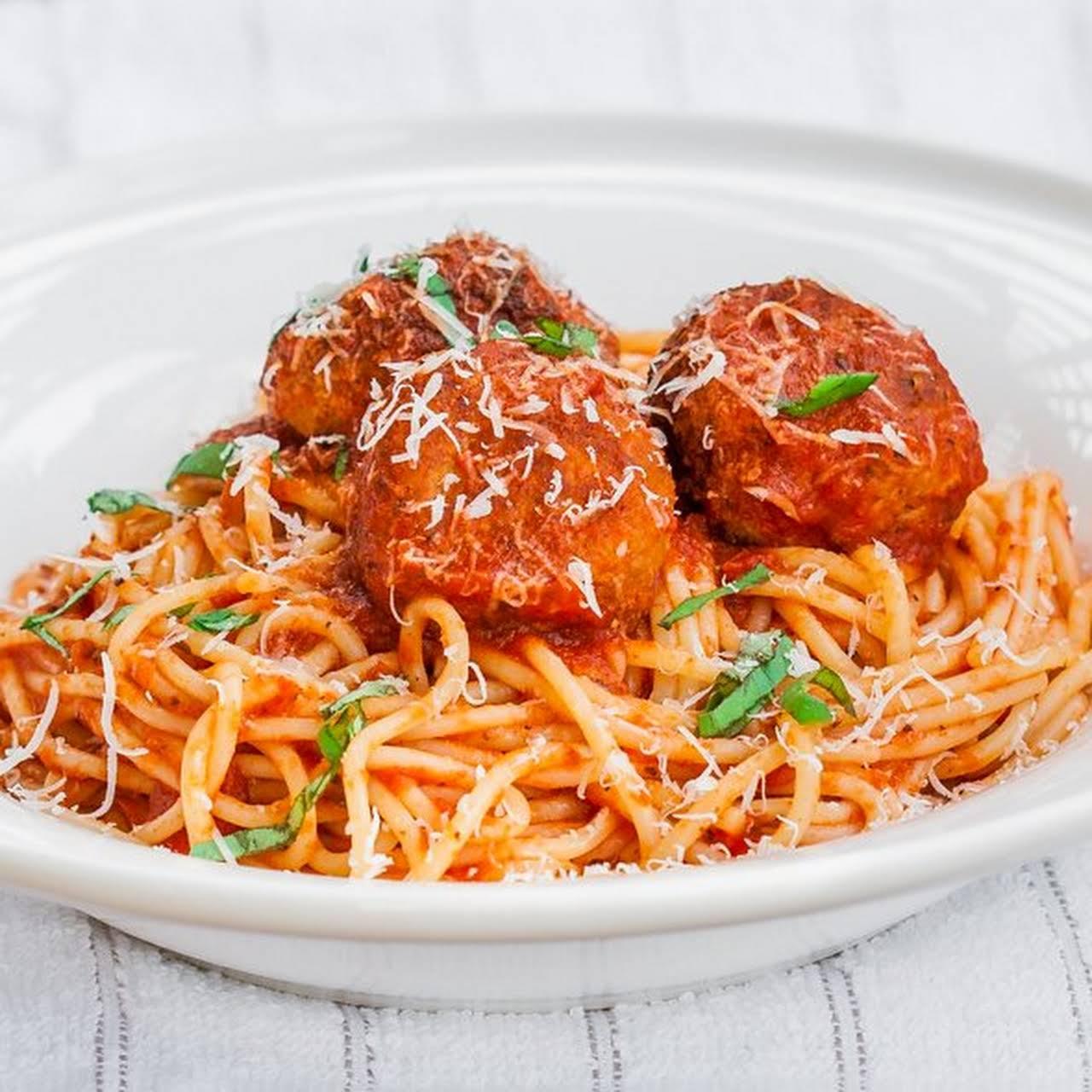Slimmed  beside Spaghetti & Chicken Meatballs