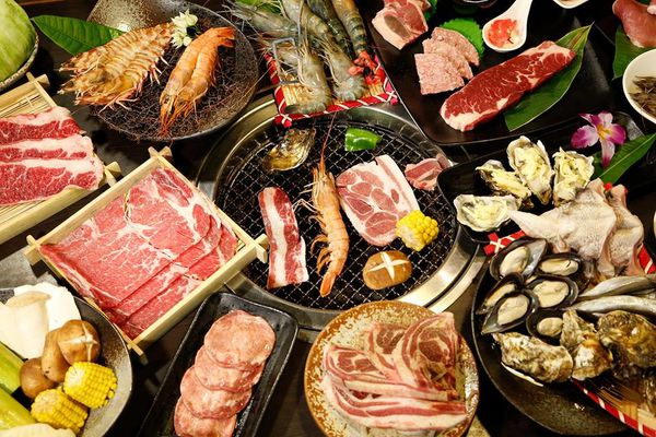 泰國蝦和烤肉無限量吃到飽~燒肉眾文心店