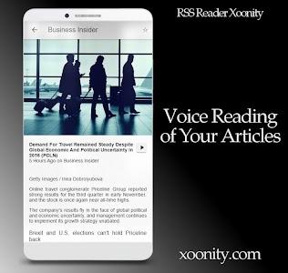 RSS Reader Xoonity - Rss Feed screenshot 2