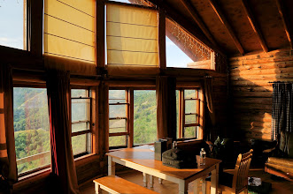 Photo: Interior of Grandview cabin.