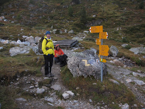 Photo: We're heading over the Meidpass to the village of Gruben ...
