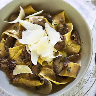 Mushroom, Pancetta, and Red Wine Pappardelle