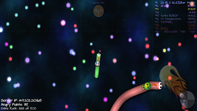 Space Slither Worm Online screenshot thumbnail