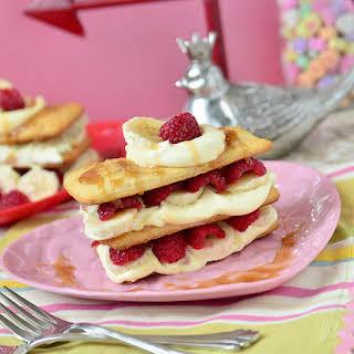 Caramel Raspberry Banana Napoleon.