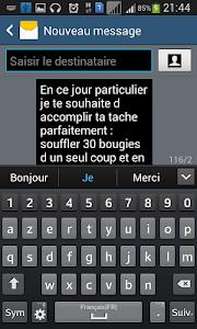 Joyeux Anniversaire SMS screenshot 4