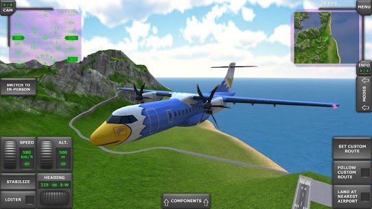 Turboprop Flight Simulator 3D Apk Download For Android and Iphone 7