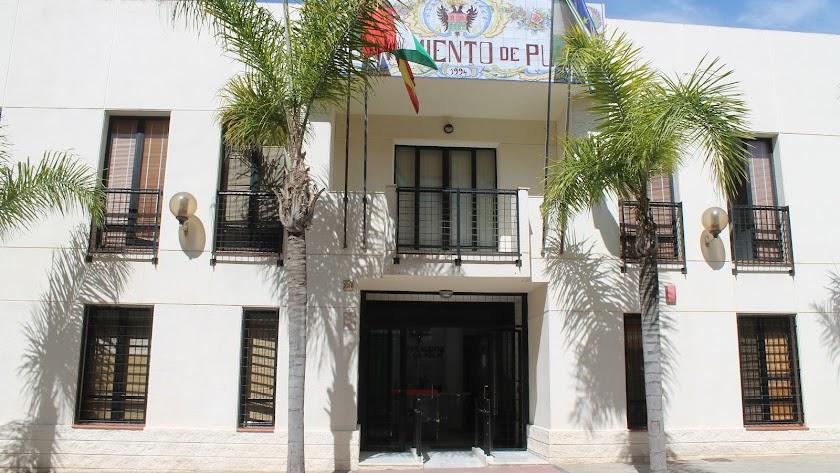 Edificio del Ayuntamiento de Pulpí, cerrado hasta que se desinfecte