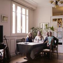 Photo: title: Liana, Clara, Jean-Pierre + Juliette Colas, Paris, France date: 2014 relationship: friends, met through Morgan Cohen years known: 15-20