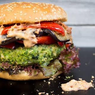 Green Monster Veggie Burger.