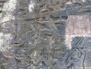 Photo: The Khmer King vanquishing his foes.