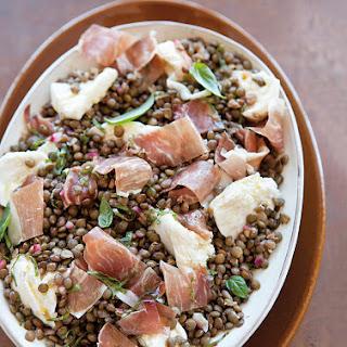 Lentil Salad with Mozzarella & Prosciutto