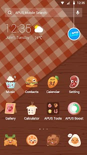 Food-APUS Launcher theme- screenshot thumbnail