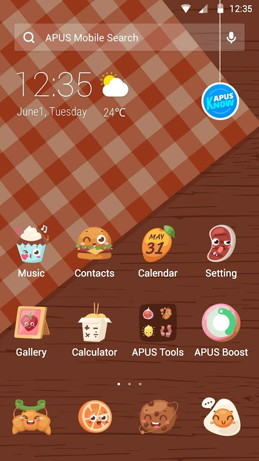 Food-APUS Launcher theme- screenshot