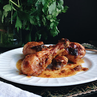 Baked BBQ Chicken Legs.