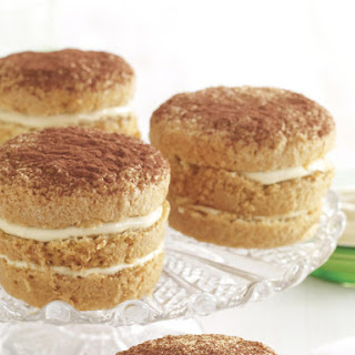 Brown Sugar Sponge Cakes with Coffee Cream.