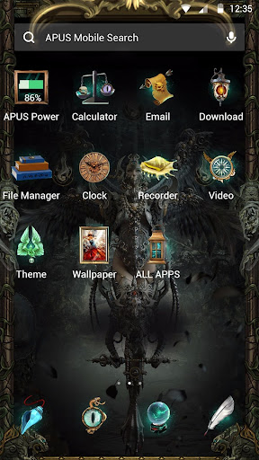 Fallen angel theme - screenshot