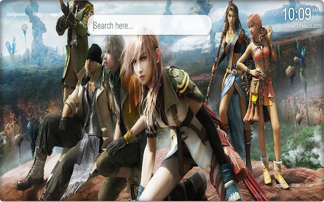 Final Fantasy HD Wallpaper New Tab