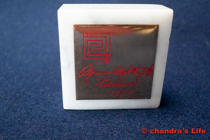 フランクロイドライト 大理石 ペーパーウエイト Frank Lloyd Wright Marble Paperweight 1974